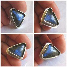 nice DIY Seed Bead - Labradorite & Sterling Silver Tab-Set Ring - Castone con griffe...