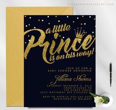 invitations u0026 invitations prince baby shower royal blue gold glitter printable invitation invite royal