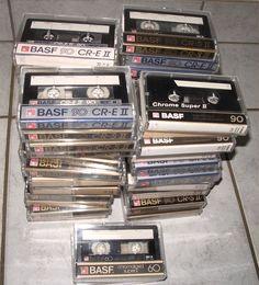 Audio Kassetten für Kassettenrekorder (BASF, bespielt, 54 Stück)