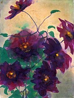 hoodoothatvoodoo: Emil Nolde 'Fleurs' 1944