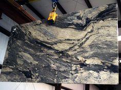 African Fantasy Granite countertop slab for Atlanta, North Georgia, & South Carolina Slabco Marble & Granite has the very best granite slabs. Granite Slab, Granite Countertops, Granite Stone, Stone Slab, Bathroom Interior, African, Fantasy, Island, Counter Tops