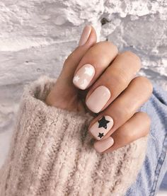 Nail style with stars art