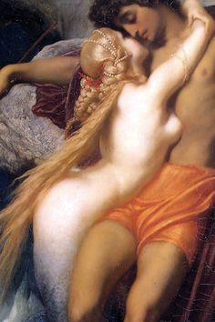 The Fisherman and the Siren (Detail) Frederic Lord Leighton