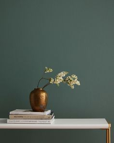 Decor Trends According to Real Simple Editors, Green Paint - Master bedrooms decor - Home Decor Green Paint Colors, Bedroom Paint Colors, Interior Paint Colors, Interior Walls, Indoor Paint Colors, Vintage Paint Colors, Sage Green Paint, Sage Green Walls, Green Interior Design