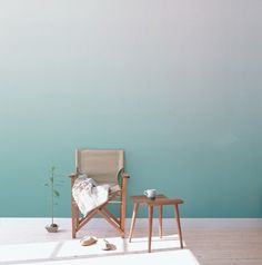 Mues Design is a French studio that design stunning colorful wallpapers for lunatic interiors. Bespoke creations, wall decor, the range of graphics and themes p Room Colors, Wall Colors, Wall Behind Sofa, Ombre Wallpapers, Mint, Pattern Wallpaper, Decoration, Wall Design, Home Goods