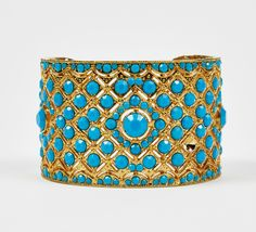 Samantha Wills Gold And Turquoise Bracelet - Make a Statement