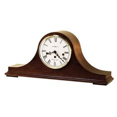 With an elegant Windsor Cherry finish the Howard Miller Mason Mantel Clock is a sophisticated timepiece that will enhance any room. Features Westminster chimes and an off-white dial with brass finished bezel and Roman numerals. Tabletop Clocks, Mantel Clocks, Mantle, Big Ben Clock, Large Clock, Wine Furniture, Traditional Clocks, Howard Miller, Wooden Clock