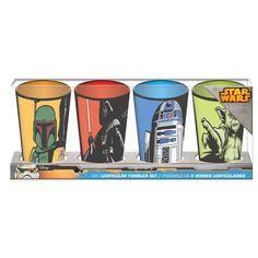 Disney- Star Wars - Star Wars 4 Piece Lenticular Tumbler Set 10$