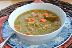 Hearty Ham and Split Pea Soup with Caraway