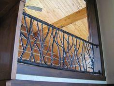 Custom Made Branch Railing Exterior Stair Loft Metal Railings Gl