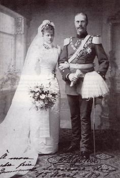 1891 Wedding of Louise d'Orléans and Alfons von Bayern | Grand Ladies | gogm Royal Wedding Gowns, Royal Weddings, Wedding Dresses, Vintage Weddings, Princess Louise, Prince And Princess, Impératrice Sissi, German Royal Family, Adele