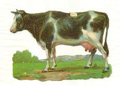 large victorian scrap cow