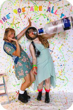 Create a splatter paint photo booth.