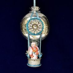Mercury Glass Christmas Ornament with Victorian by SparkleDeluxe