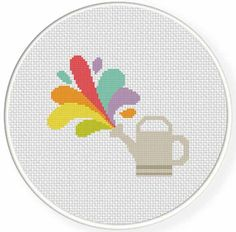 FREE for Feb 28th 2015 Only - Color Sprinkler Cross Stitch Pattern