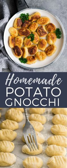 This Homemade Potato Gnocchi Recipe is made with only 5 ingredients and is SO much better than store bought varieties! Seriously we only ever eat homemade gnocchi! This version has cheddar cheese in the dough, plus It's freezer friendly! Side Dish Recipes, Gourmet Recipes, Dinner Recipes, Cooking Recipes, Healthy Recipes, Breakfast Recipes, Endive Recipes, Radish Recipes, Vegetarian Gnocchi Recipes