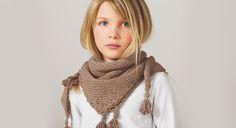 Un joli chèche pour enfant à réaliser dans la couleur qui vous plait !  Les fournitures – fil à tricoter qual. Sonora, col. Caverne: 3 pelotes (Bergère de France) – aig. à ...