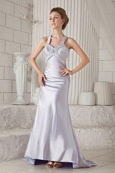 Silver Elastic Satin Straps Celebrity Dresses - Order Link: http://www.theweddingdresses.com/silver-elastic-satin-straps-celebrity-dresses-twdn1643.html - Embellishments: Beading , Crystal; Length: Floor Length; Fabric: Elastic Satin; Waist: Natural - Price: 161.3USD