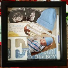 Birth Shadow Box For My Son Ikea Ribba Frame Michaels
