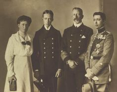 Prince Henry and Princess Irene of Prussia with their sons Prince Waldemar and Prince Sigismund