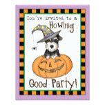 Halloween Miniature Schnauzer Card #halloween #happyhalloween #halloweenparty #halloweenmakeup #halloweencostume