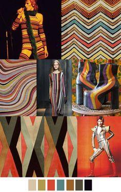 Kräftiger Mustermix des Herbst - Farbtyps  KT / Farb-, Typ-, Stil- & Imageberaterin