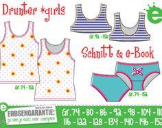 Girls' underwear EU sizes 74-152 • sewing pattern pdf // German instructions