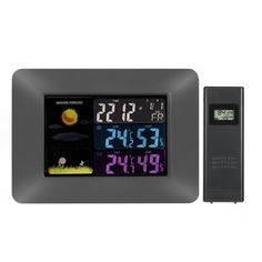 19.93$  Watch now  - Multi-functional Wireless Weather Forecast Clock Digital Colorful LCD Indoor Outdoor Thermometer Hygrometer Alarm Snooze Calendar Function