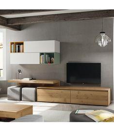 Espace Entertainment Unit for TVs up to 60 Denwar Modern Tv Room, Modern Tv Wall Units, Contemporary Tv Units, Tv Console Modern, Tv Unit Decor, Tv Wall Decor, Tv Cabinet Design, Tv Wall Design, Living Room Interior