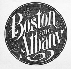 Boston and Albany Railroad logo,1900. From Richard Sheaff's collection.