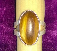 Tiger Eye ring set in Sterling Silver and Super Fine Silver by AeryckdeSade, $70.00