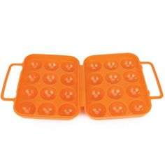 FLST Portable Folding Plastic Egg Carrier Holder Storage Container for 12 Eggs - Orange #Affiliate