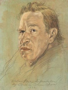 Austin Osman Spare – Wallace Beery Differentiation, 1932, Pastel and pencil on paper, 10.25 x 8 in