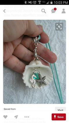Beautiful seashell, seahorse, seastar!
