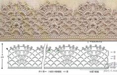 Beautiful crochet lace edging ~~ bico 62