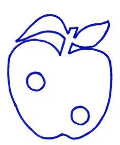 De appel laten uitprikken, opvullen met propjes. De rups is gemaakt met een trapje
