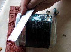 GREAT TIP for slicing Mokume Gane. Photo tutorial for Mokume Gane from Emilia Kasitoo.