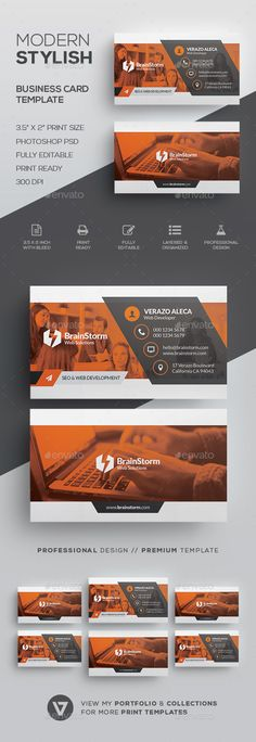 Modern Corporate Business Card - Corporate #Business #Cards