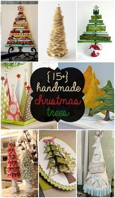15+ Handmade Christmas Trees - SO CUTE for DIY Christmas decor!!