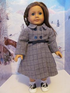 Wool  Coat, Winter Coat, Doll Coat,  Historical Coat,  18 inch  Doll Clothes