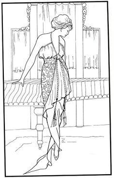 Paris fashion design - Mama Mia - Picasa-Webalben Colouring Pages, Adult Coloring Pages, Coloring Books, Coloring Bible, Fashion Colours, Colorful Fashion, Art Nouveau, Girly, Painting People