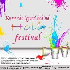Know the legen behind Holi festival. Quotes of Holi