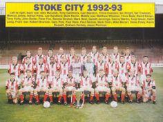 STOKE CITY FOOTBALL TEAM PHOTO 1992-93 SEASON | eBay