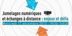 """Inscriptions jusqu'au 29 novembre, Séminaire """"jumelages numériques et échanges à distance"""" - Amiens"""