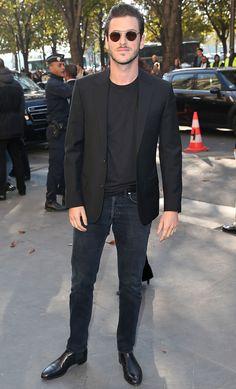 The Best Dressed Men Of The Week: Gaspard Ulliel at the Chanel SS17 Show, Paris. #bestdressedmen #gaspardulliel