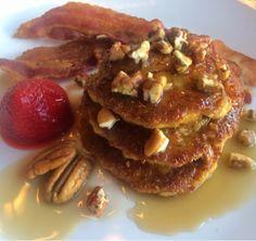 Paleo Blog: Paleo Pumpkin Chia Protein Pancakes with Pecan Toffee Syrup