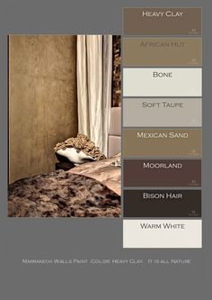marrakech walls paint, color heavy clay photo p. Wall Colors, House Colors, Wall Paint Inspiration, African Hut, Home Beauty Salon, Cosy House, Brown House, Tadelakt, Wall Molding