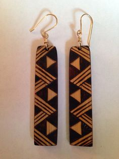 Lauhala/Niho Manō (Shark Teeth) Design. Each `Ohe Kāpala wearable art has its own unique design. Handmade and hand carved on strips of bamboo