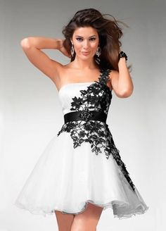 2012 Spring Style Empire Strapless Applique  Sleeveless Short / Mini  Organza White Cocktail Dress / Homecoming Dress $134.99