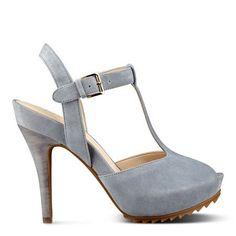 Light Blue Radisa Platform Sandals | Nine West